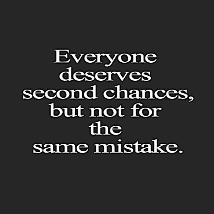 quote everyone deserves second chances